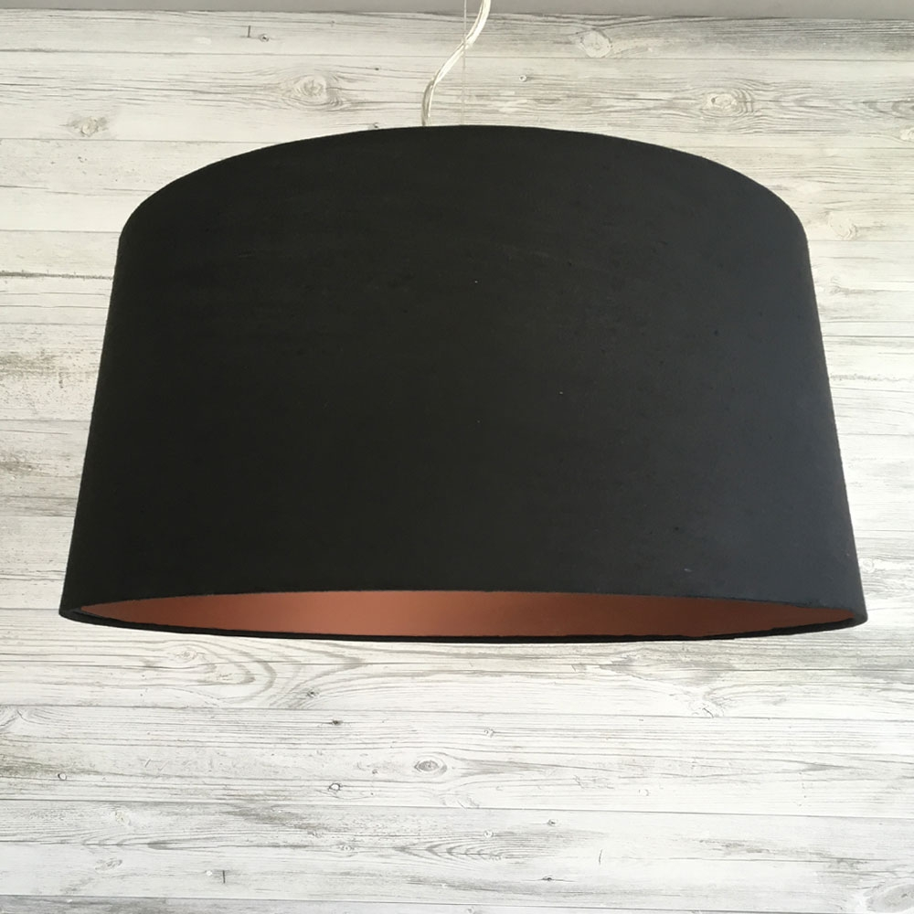 Large F. Drum Black and Copper